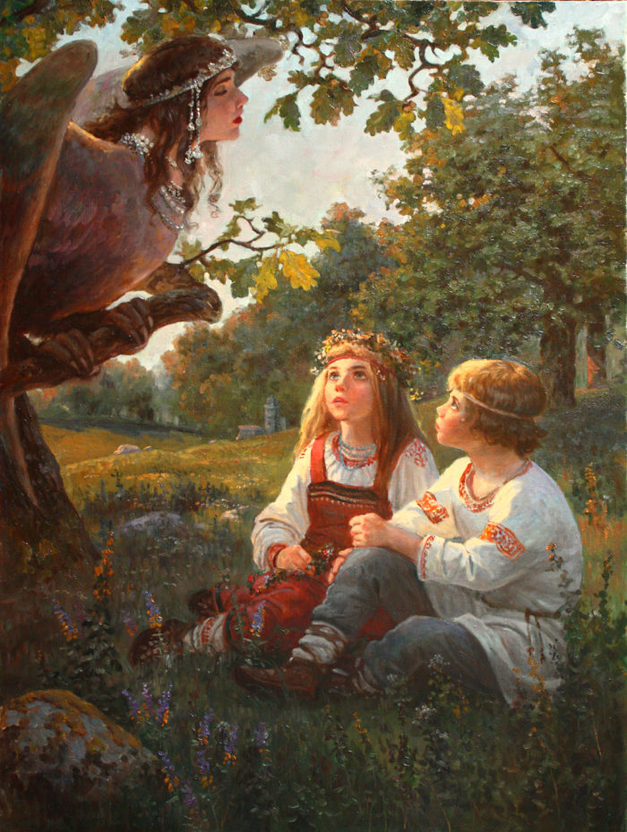 Купало и Кострома - художник Андрей Шишкин
