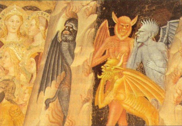 Черти в аду (деталь фрески в церкви Санта-Мария-Новелла, Флоренция)