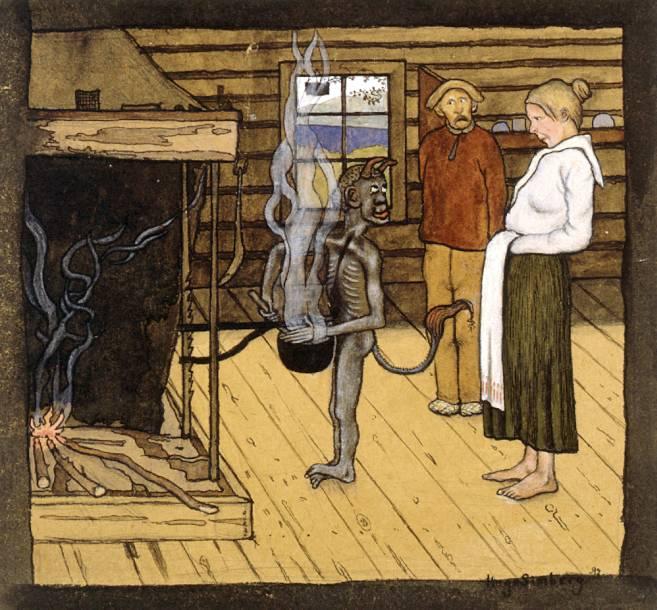 Симберг, Хуго Чёрт у котла 1897г