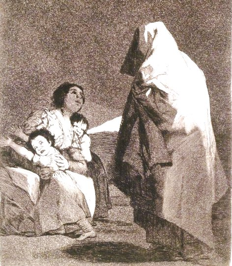 Приход Бабя - рисунок Гойя, 1797 г.