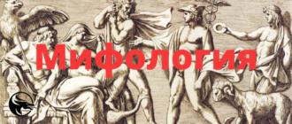 Античная, греческая и римская мифология